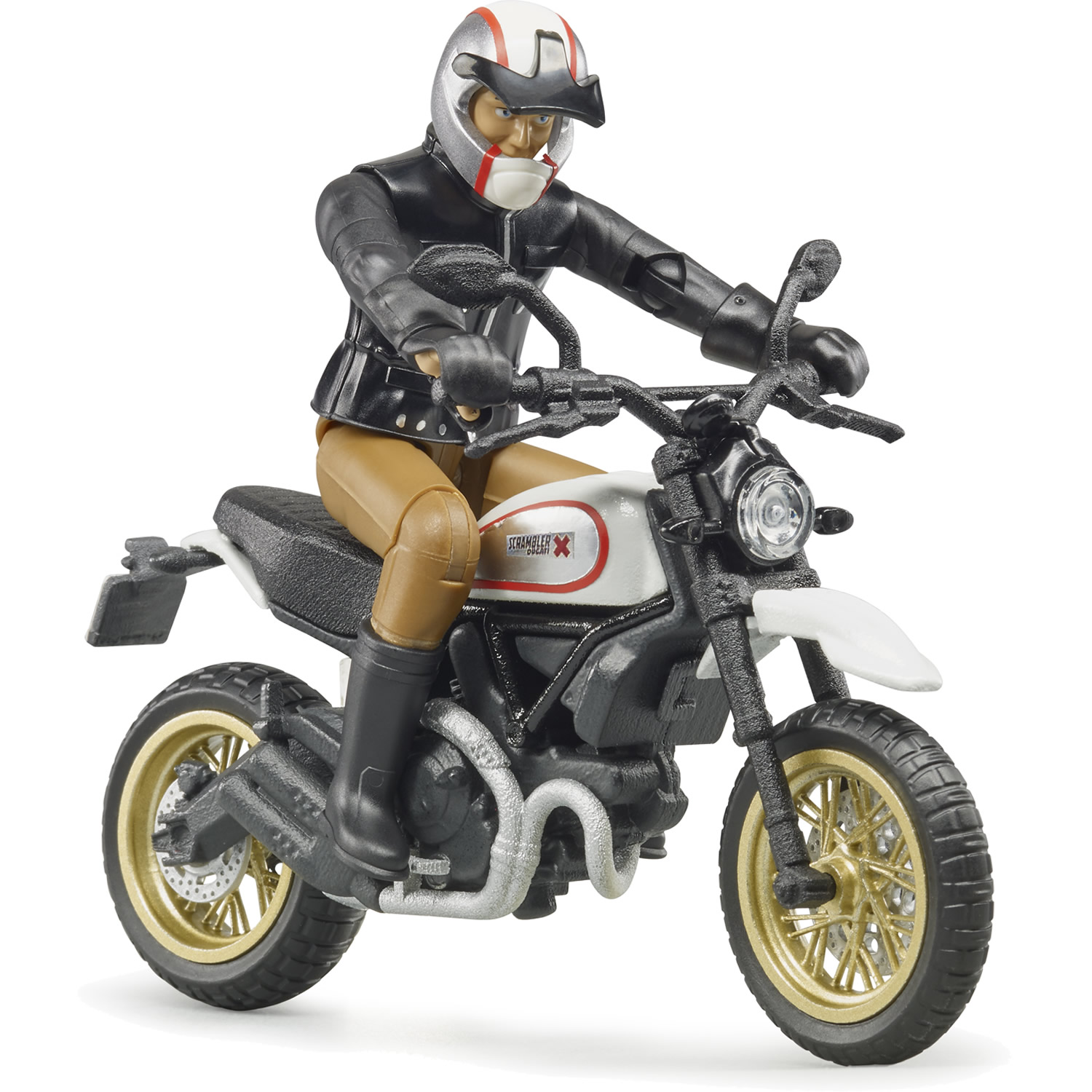 bruder ducati scrambler desert sled mit fahrer bei spiel. Black Bedroom Furniture Sets. Home Design Ideas